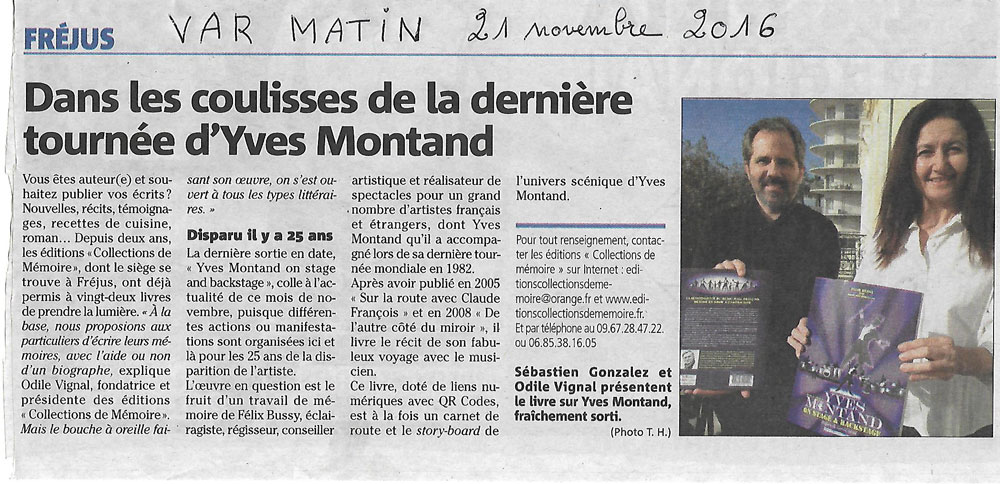 Var Matin Yves Montand