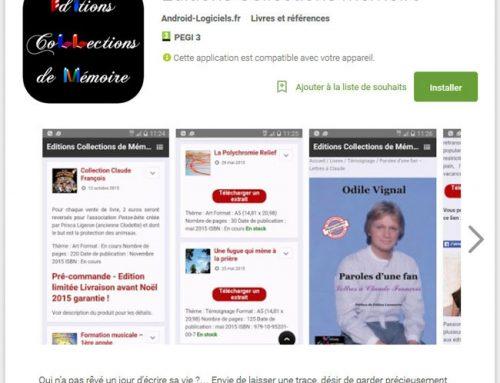 Retrouvez les Editions Collections de Mémoire sur Android !